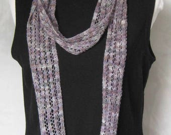 Lavender Lace Scarf, Narrow, Romantic Style, Summer Accessory, Soft, Drapes Exquisitely, Special Occasions