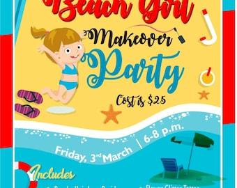 Moana Party Flyer, Flyer Design, Custom Flyer Design, Custom Flyer, Beach Party Flyer. Poster Design, Leaflet Design, Business Flyer, Poster