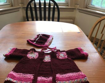 Cranberry Rasberry Sherbert or Baby blue sweater set