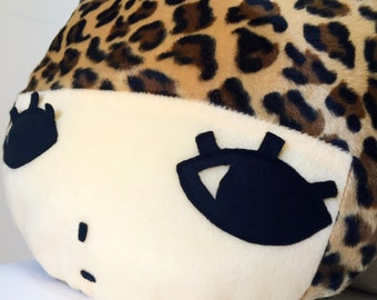 Handmade leopard character cushion and pillow l Paomui