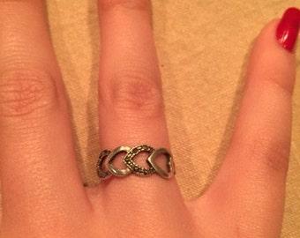 Vintage 4 Heart Ring