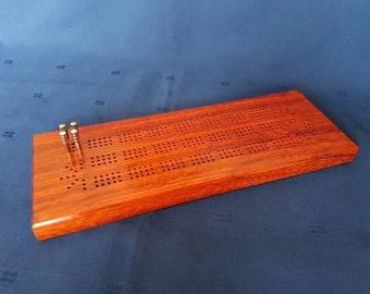 Padauk Cribbage Board
