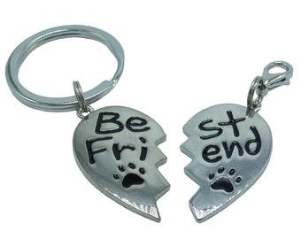 BFF Best Fur Friends Dog Collar and Keychain Charm