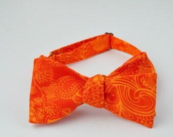 Orange and Yellow Pattern Bowtie