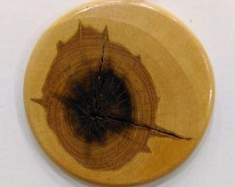 Birch Wood Pendant, Wooden Jewelry, Birch Necklace, Natural Wood Jewellery, Handmade