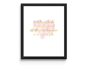 Mother's Day Printable - Instant Download - A mother is she...