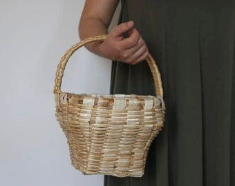 Wicker Basket, Basket with a Lid, Wicker Basket, Basket Purse, fruit basket, Weidenkorb, panier en osier, cesta de mimbre.