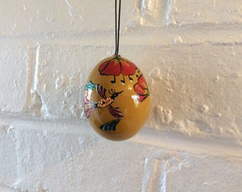 One hand painted Easter egg.