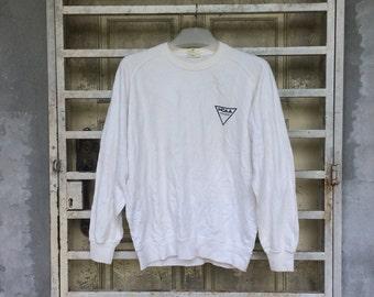 SALE!!! Vintage 90s NCAA Sweatshirt White Colour Size L