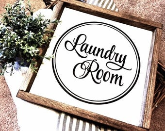 Laundry Room Wood Sign, Farmhouse Style, Laundry, Laundry Room Sign, Farmhouse Wood Sign, Rustic Decor,  Wood Signs, Home Decor, Wall Decor