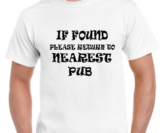 If found please return to nearest pub