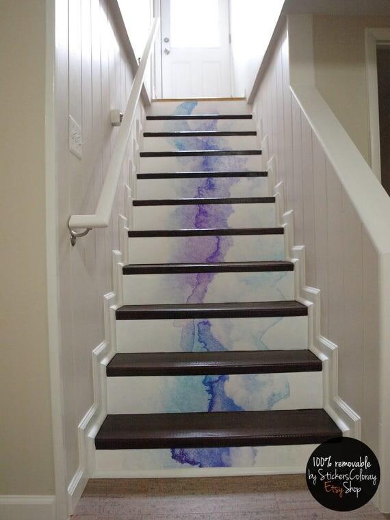 10 degr d calque contremarche escalier bleu et violet. Black Bedroom Furniture Sets. Home Design Ideas