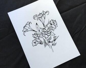 Lily Botanical Print
