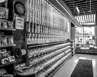 Candy Store Black & White Print