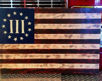 Wooden American Flag Wall Art, Rustic American Flag, Red White and Blue Flag, Rustic Flag Sign, Wooden American Flag