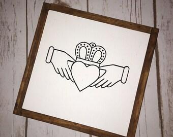 Items similar to celtic wedding invitations irish claddagh for Etsy wedding invitations ireland