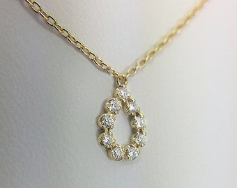 /or 750/diamond/a miniature ideal/jewelry gift necklace.