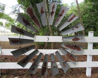 Windmill Wall Art- 6' Diameter Aermotor Style Windmill Wheel, Distressed