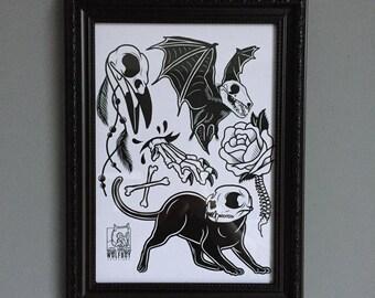 Animal Bones Print