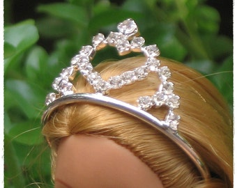 Beautiful Crown with Crystal Fashion Costumes Jewelry for Barbie or Doll Clothing Accessory