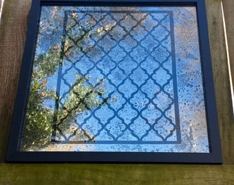 "12x12 MIX And MATCH Antiqued Mirror with  ""Moroccan"" Pattern"