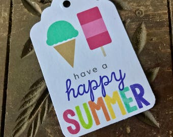 Summer Gift Tag - Happy Summer 2