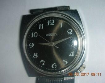 Vintage 80s Soviet USSR mechanical mens Wrist watch Rocket RAKETA Petrodvorets watch factory, RARE, Original!