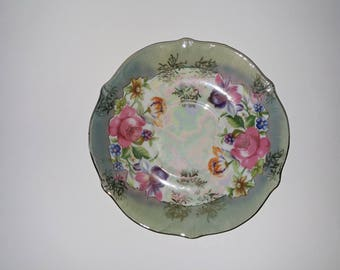 Floral porcelain saucer