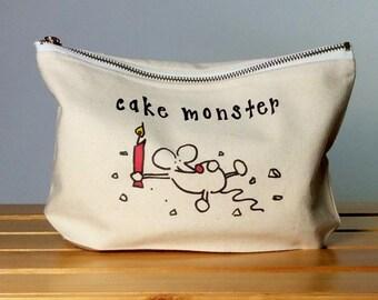 baby love binky bag - cake monster binky bag / pacifier bag / baby girl / baby boy gift / baby supplies bag / mommy bag / daddy bag