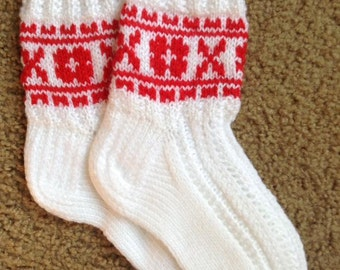 Knitted socks made in Latvia