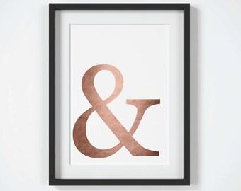 Ampersand Wall Art ampersand wall art | etsy