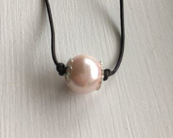 Pink pearl necklace