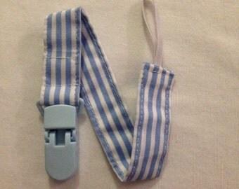 Blue Stripe Cotton Dummy Clip with Blue Clip
