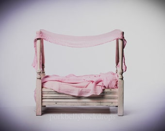 4 Post Bed, Digital Newborn Backdrop