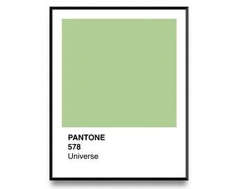 Pantone Wall Art, Pantone 2017, Pantone Poster, Pantone Print, Pantone Green, Wall Art Print With Instant Printable Digital Download