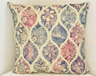 Cushion Cover, Floral Cushion, Bohemian Print Pillow Cover