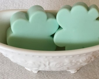 2-Pack GARDENIA Scented Homecrafted Clover Leaf Soap