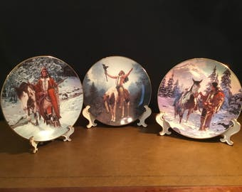 Native American Indian - collector plates by Hamilton