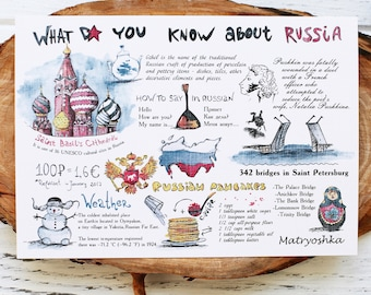 "Postcard ""What do you know about Russia"""