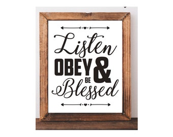 Digital Download - Listen, Obey and be Blessed