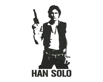 Han Solo Embroidery Design - 6 SIZES