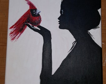 Suzanna and Her Red Bird