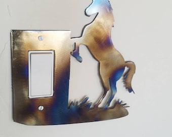 Toggle  light switch horse