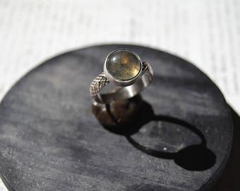Made to order snake labradorite ring- labradorite ring- snake ring