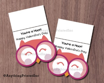 Valentine Owl Goodie Bag Toppers