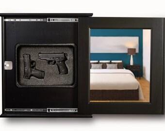 Concealment Wall Mirror - Hidden Compartment - Secret - Covert - Tactical - Gun