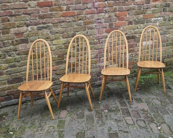 4 Fully Restored Ercol Quaker Dining Chairs