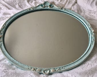 French Brocante Wall Mirror Now Sold !!! Ornate Baroque Vintage Mirror Painted Shabby Chic Wall Mirror