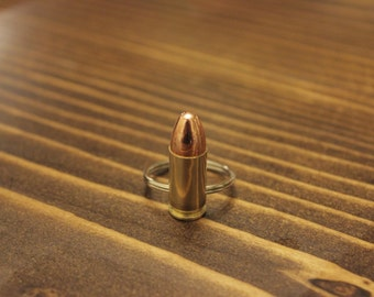 Bullet Keychain (9MM) REAL BULLET, FREE Shipping in U S A