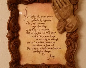 Our Father Lord's Prayer Picture Frame